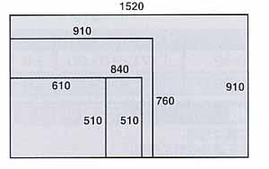 疲労軽減マット 穴無し 幅610×奥行き510mm【YAMA-OM-65】
