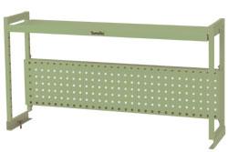 ワークテーブル架台 棚板1段+パンチングパネルタイプ 幅1511×奥行き300×高さ600mm【YAMA-WKP-1500】