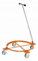 円形ドラム台車 オープンタイプ 200リットル用 直径609×高さ140mm 均等耐荷重:250kg【DR-1TM】