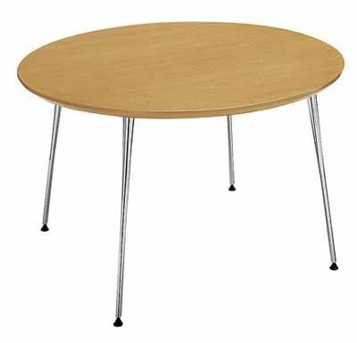 コクヨ イートイン シリーズ テーブル リフレッシュテーブル 4本脚 高さ700mmタイプ 天板寸法 直径1200mm メラミン化粧板 塗装脚【LT-348】