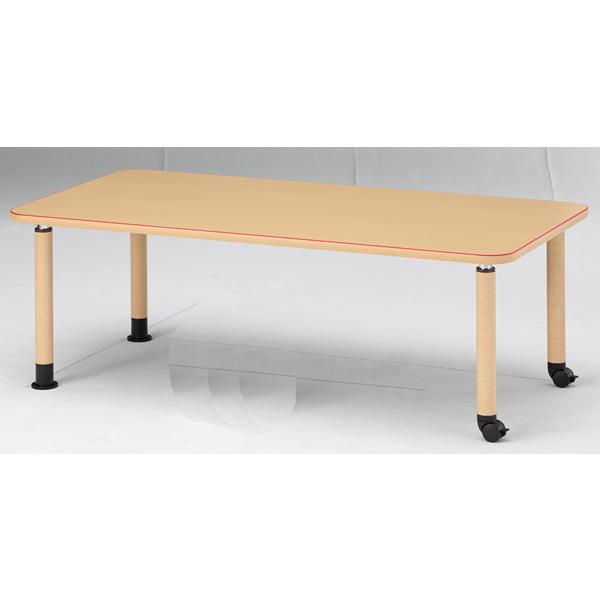 【福祉】介護用テーブル 角型テーブル(キャスタータイプ) 幅1800mm×奥行900mm×高さ600mm~800mm【MK-1890C】