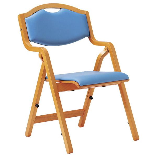 折り畳み椅子 スタッキングタイプ(丸背)【抗菌性ビニールレザー張り】【MW-305-VG1】