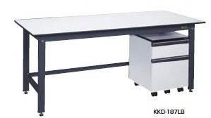 サカエ KK 軽量作業台 キャビネットワゴン付 均等耐荷重:350kg【KKD-127LB】