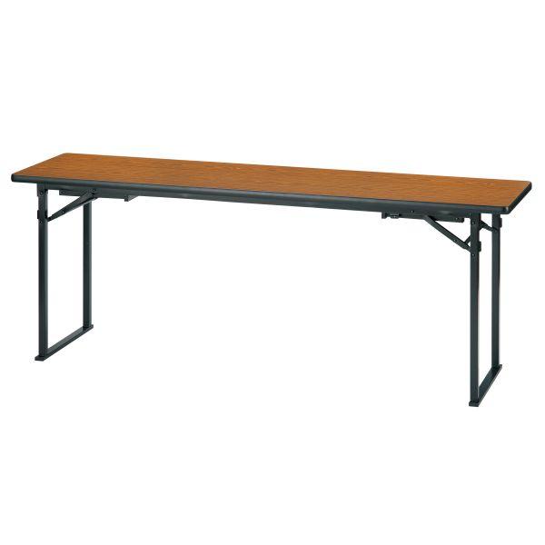 折畳み会議テーブル(座卓兼用)平板脚タイプ 国産品 幅1800×奥行600×高さ700mm ソフトエッジ【KTZ-1860HSE】