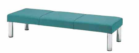 ロビーチェア MC-1925F 布張り 幅1500×奥行き580×座の高さ370mm【MC-1925F】