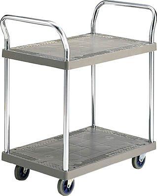コクヨ 樹脂製手押車(両袖ハンドル・ベース2段) ●受注生産品 積載量/300kg【TK-P25N3】