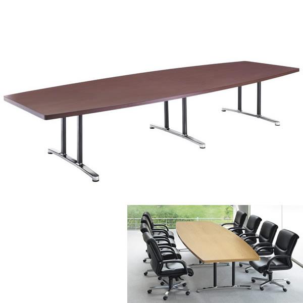 ミーティングテーブル・会議テーブル/ DWLテーブル【角形・幅3600×奥行き1200mm・天板2分割】【DWL-3612K】