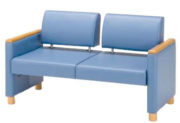ロビーチェア MWC-6002A 幅1220×奥行き630×高さ710×座の高さ390mm【MWC-6002A】