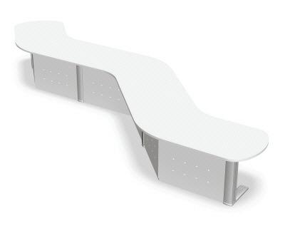 XF(エクセフ) カウンター ローカウンター 135DO型 Cタイプ 幅5166×奥行き2635×高さ720mm【XK-135LO-C】