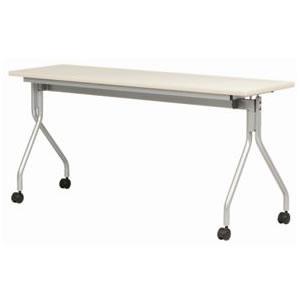 跳ね上げ式会議テーブル 幅1500×奥行き450mm キャスター付き 【国産】【AHM-1545】