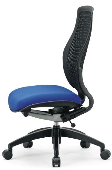 オフィスチェア ハイバック 肘なし 樹脂メッシュバックチェア【MA-1525】