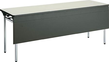 コクヨ 折りたたみ机(長机) KT-500シリーズ 丸脚メッキ パネル付き 棚付き 幅1800×奥行き600mm【KT-PES501N】