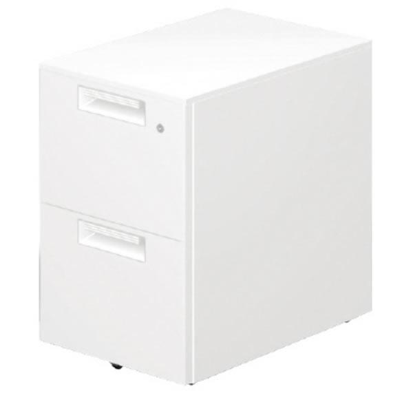 LEED Desk(リードデスク) デスクアクセサリー サイドキャビネット 2段コロ式【LE-046SC-2】