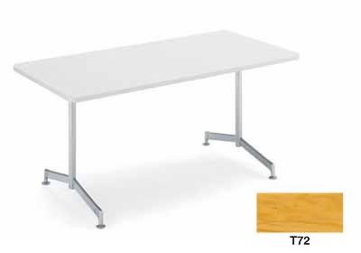コクヨ イートイン シリーズ テーブル リフレッシュテーブル T字脚 高さ700mmタイプ 天板寸法 幅1500×奥行き800mm 突板 塗装脚【LT-411T72】