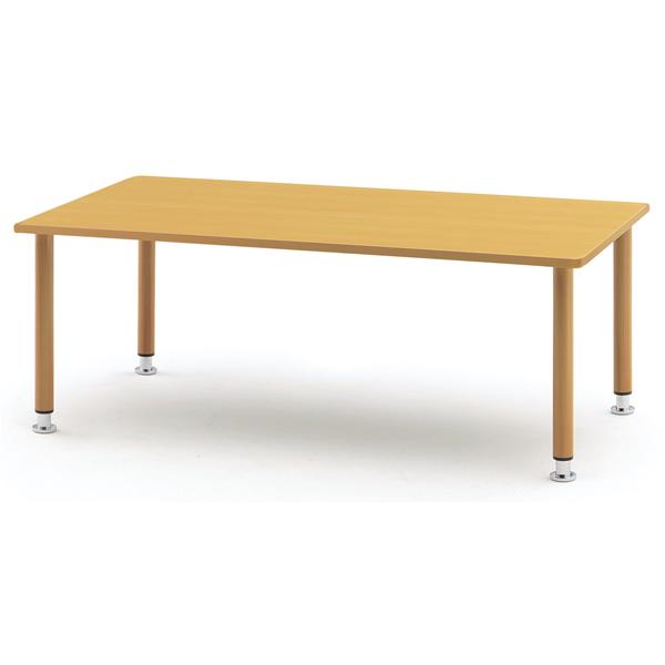 【福祉】介護用テーブル 塗装脚タイプ 幅1200mm×奥行750mm×高さ660mm~760mm【MYT-1275T】