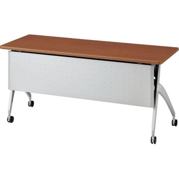 平行スタックテーブルSH-1845M 幅1800×奥行き450×高さ700mm 幕板付き・コンセント無し【6-165-212】