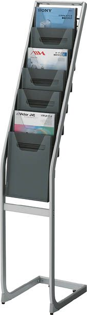 コクヨ パンフレットスタンド A4サイズトレータイプ(片面)薄型1列7段【ZR-PS201】