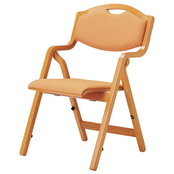 折り畳み椅子 スタッキングタイプ(丸背)【透湿防水性防汚性布張り】【MW-305-FW18】