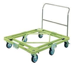 自在移動回転台車 重量型 取手付タイプ 幅1210×奥行き1010×高さ952mm 均等耐荷重:700kg【RH-3TG】