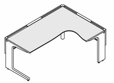 コクヨ レヴィスト デスクシステム パーソナルテーブル L型テーブル R側 幅1600×奥行き1200mm【SD-LVLR1612L】