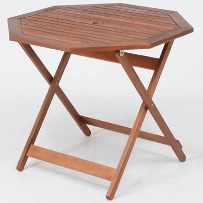 ガーデンテーブル/ 八角テーブル 90cm GT04FB ブラウン(81061)【F-81061】