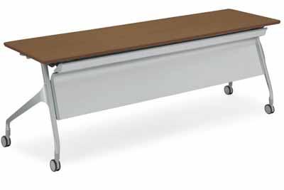 コクヨ 会議用テーブル エピファイ 会議用テーブル 天板フラップ式 配線キャップ付き パネルなし 直線タイプ 幅2100×奥行き600×高さ720mm【KT-SW1009】