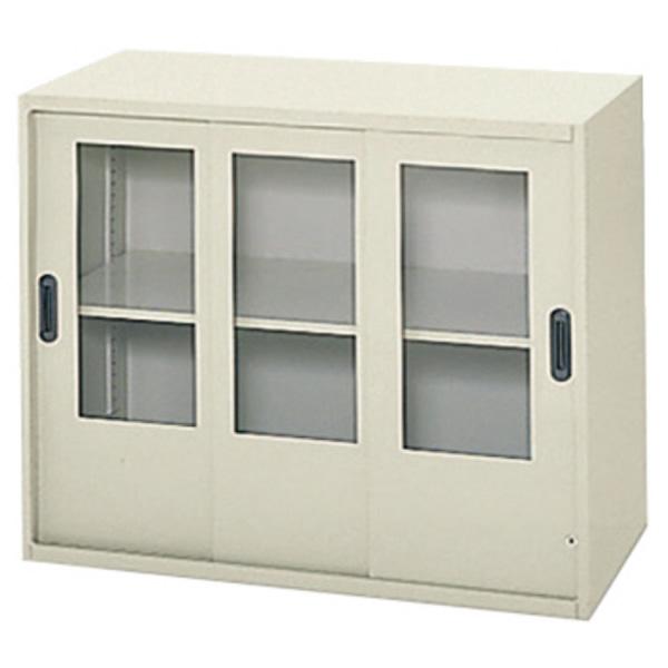 システム収納庫 LX-5 A4対応型 ガラス3枚引違い保管庫 上置き 高さ720mm (615968)【L5-E70SG】