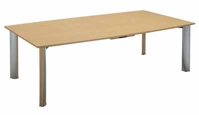 コクヨ 大型会議テーブル WT-150シリーズ 会議用テーブル ボート型天板 幅2400×奥行き1200×高さ700mm【WT-W156N】