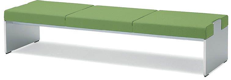 コクヨ ロビーチェアーアニカ 3人掛けベンチ 幅2000mm×奥行き600mm 【CN-763B】