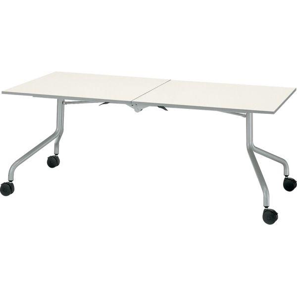 センタースタックテーブル CE-1845型 幅1800×奥行き450×高さ700mm【6-161-413】