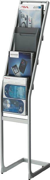 コクヨ パンフレットスタンド A4サイズトレータイプ(片面)厚型1列4段【ZR-PS211】