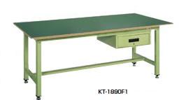 サカエ KT 中量作業台 深型キャビネット付 均等耐荷重:800kg【KT-1875F1】