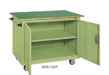 サカエ ジャンボワゴン アイボリー 均等耐荷重:300kg【SKR-100TI】