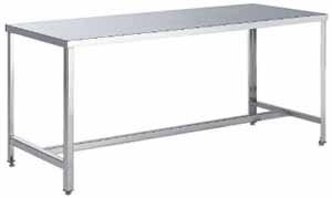 ステンレスワークテーブル SUS304 #400仕上げ アングル脚仕様 幅1200×奥行き900×高さ800mm【YAMA-SUSAT12】