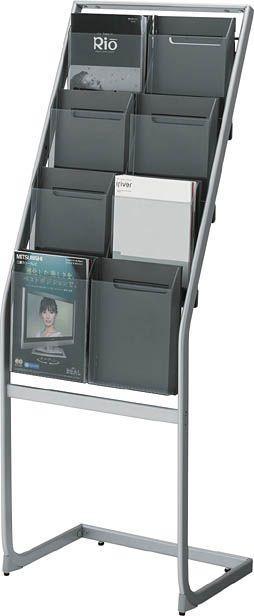 コクヨ パンフレットスタンド A4サイズトレータイプ(片面)厚型2列4段【ZR-PS212】