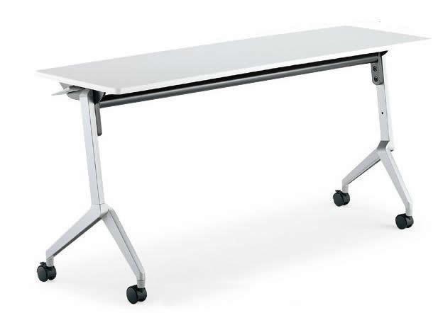 コクヨ リーフライン 会議用テーブル フラップテーブル 幅1500×奥行600mm パネルなし・棚なしタイプ【KT-1203N】