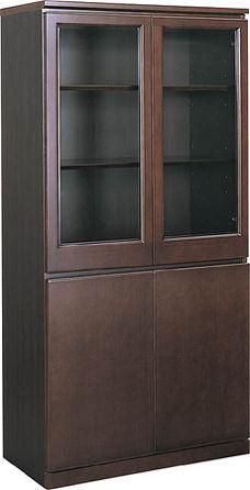 コクヨ 役員室用家具 マネージメント220シリーズ 両開き書棚【MG-220GBN4】