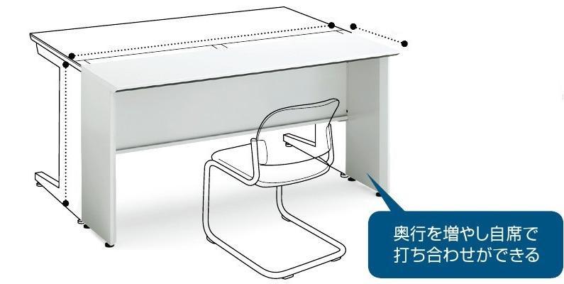 【最大3年保証】コクヨ iSデスクシステム マネージャー用ミーティングテーブル 幅1500×奥行450×高さ720mm【SD-ISNS154SN】