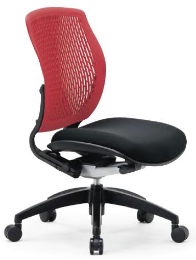 オフィスチェア ローバック 肘なし 樹脂メッシュバックチェア【MA-1505】