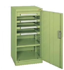 サカエ ミニ工具室 均等耐荷重:棚板1段当り80kg・中引出し50kg・浅引出し35kg【K-81N】