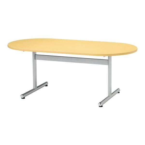 会議用テーブル 楕円型 幅1800×奥行750mm 塗装脚タイプ 【国産】【AKT-D1875】