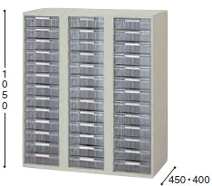 収納庫 NWS型 トレー書庫 下置用 深型 A4用3列13段 幅899×奥行き400mm【NWS-0911ALL-AW】