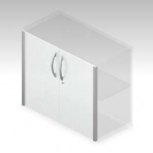 XFストレージ(タイプRオプション) 両開きガラス扉 下置き・高さ700mm用 (613835)【XS-F70A-G】