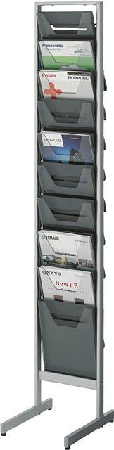 コクヨ パンフレットスタンド A4サイズトレータイプ(片面)薄型1列10段【ZR-PS301】