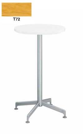 コクヨ イートイン シリーズ テーブル リフレッシュテーブル 十字脚 高さ1000mmタイプ 天板寸法 直径600mm 突板 メッキ脚【LT-M407T72】
