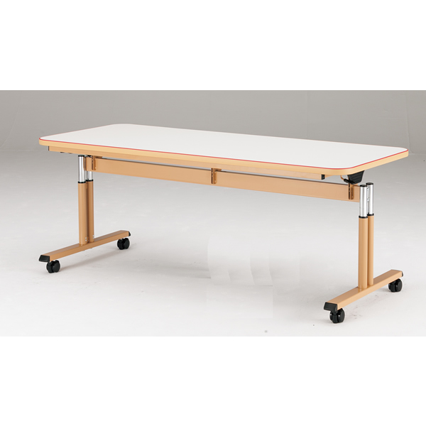 【福祉関連】介護用テーブル 天板昇降 幅1800×奥行750×高さ660mm~800mm【MAT-1875】