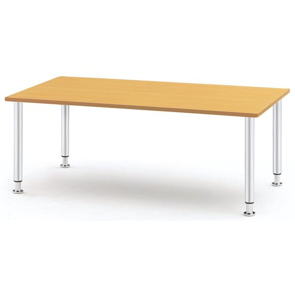 【福祉】介護用テーブル メッキ脚タイプ 幅1500mm×奥行750mm×高さ660mm~760mm【MYT-1575M】