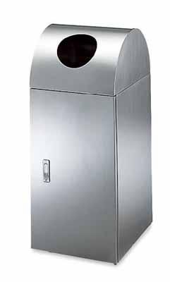 コクヨ フロアタイプ リサイクルボックス ステンレスタイプ ペットボトル用 幅350×奥行き420×高さ850mm【PF-EW303】