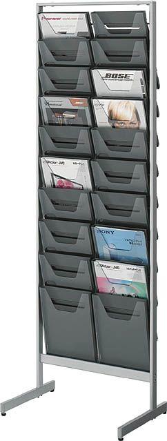 コクヨ パンフレットスタンド A4サイズトレータイプ(片面)薄型2列10段【ZR-PS302】