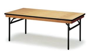 宴会用テーブル・レセプションテーブル FRTシリーズ 角型 ハカマ付 幅1800×奥行き450×高さ700mm【FRT-1845】